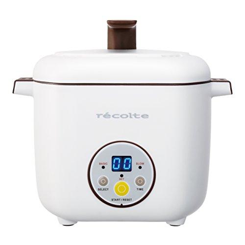 【2段同時調理】recolte healthy cotocoto ヘルシーコトコト ホワイト RHC-1(W)