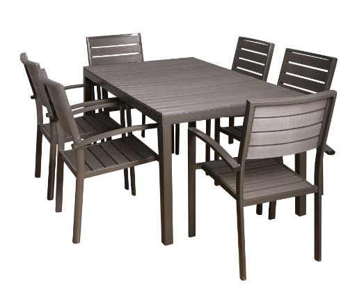 atlantic tupelo 7 piece dining set cheap patio furniture sets