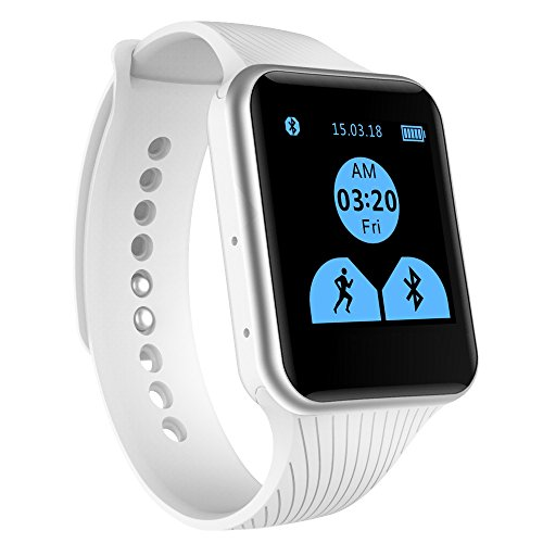 EFOSHM® X15 Smart Watch,Bluetooth Watch Phone Mate For iOS Apple iPhone and Android Sumsung HTC Symbian Blackberry Windows SmartPhones. BIG ADVANTAGE- Don't NEED INSTALL APP. (White)