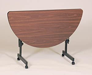 Correll Laminate Half Round Flip Top Table With Adjustable