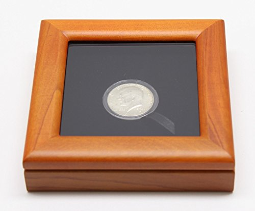 Glass-Top-Wood-Display-Box-and-Coin-Capsule-Holder-Half-Dollar