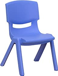 Intra Kids Strong and Sturdy Durable Kids Premium Plastic Chair (Small) (Blue)