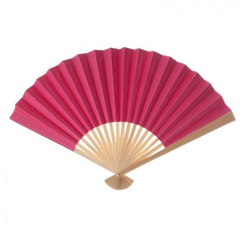 Koyal Wholesale Decorative Paper Fans, Hot Pink, Set Of 10 front-1025511