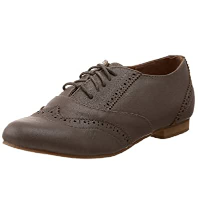 Miss Me Women's Rae-1 Oxford,Taupe,5.5 M US