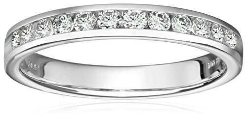 IGI-Certified-14k-White-Gold-Round-Diamond-Channel-Anniversary-Ring-12cttw-H-I-Color-SI2-I1-Clarity-Size-6