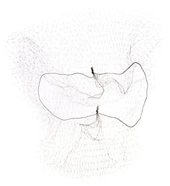 """Keystone 109I-REG-WHT White Lightweight Nylon Invisible Hairnet with 1/4"""" Opening, 22"""" Regular Size (Case of 144)"""