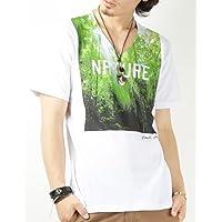 (バレッタ) Valletta 3type 転写フォトプリント深VネックTシャツ