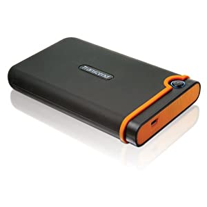 41MqMFJznbL. AA300  Transcend StoreJet 25 TS500GSJ25M Mobile Anti Shock 500GB USB 2.5 Portable Hard Drive   $68 Shipped