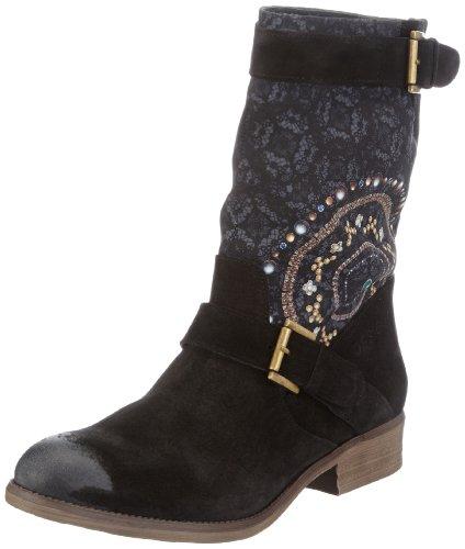 Desigual Boots Sacha_4, Anfibi donna, Schwarz (Negro 2000), 37