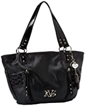 Hot Sale KATHY Van Zeeland Perfect Pinch Shoulder Bag,Black,One Size