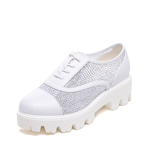 2016Spring Shoes/Deep mouth singles shoes/Hollow mesh shoes-C Foot length=21.8CM(8.6Inch)