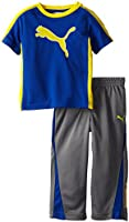 PUMA Little Boys' Toddler Two-Piece Cat Performance T-Shirt and Pant Set