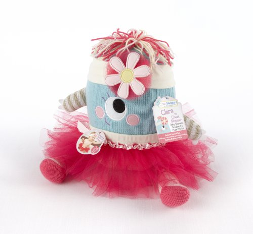 Baby Aspen, Clara the Closet Monster Baby Bloomers Headband and Monster Plush Toy Gift Set, 0-6 Months