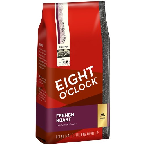 Eight O'Clock Ground Coffee, French Roast, 24 Ounce (French Roast Eight O Clock compare prices)