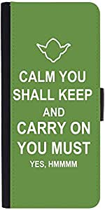 Snoogg Keep Calm And Carry On Designer Protective Flip Case Cover For Samsung...