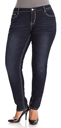 WallFlower Juniors Plus Size Basic Sassy Skinny Jeans in Bridgit Size: 14