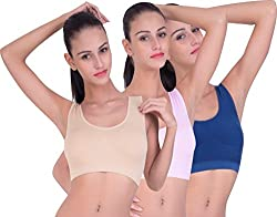 PIFTIF Non Padded Seamless Non Wire Sports Bra For GYM And Yoga