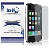 Halo Screen Protector Film Clear Matte (Anti-Glare) for Apple iPhone 3G 3GS (Pack of 3 plus 1 Micro-Fiber Cleaning Cloth)
