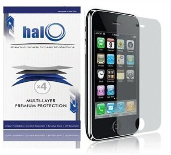 Halo Screen Protector Film Clear Matte (Anti-Glare) for Apple iPhone 3G 3GS (Pack of 3)