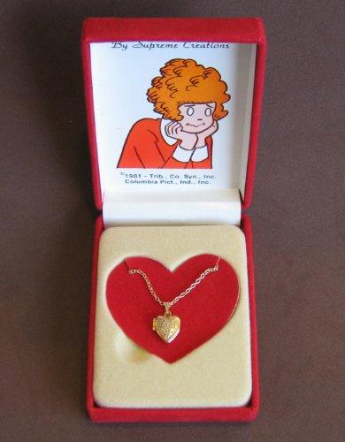 Little Orphan ANNIE HEART Shape PENDANT LOCKET NECKLACE 1/2