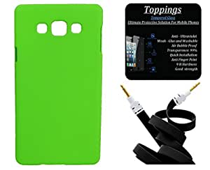 Toppings Hard Case Cover With Aux Cable & Screen Guard For Samsung Galaxy S5 - Green