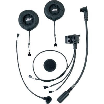 J&M Elite Series Clamp-On Headset - Hs-Ecd584-Ff For Most Full-Face Helmets Hs-Ecd584-Ff