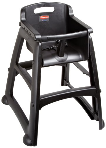Rubbermaid Commercial Fg781408Bla Sturdy Chair Youth Seat Without Wheels, Black