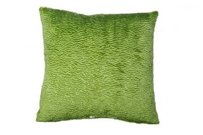 Kissenhülle aus festem Stoff mit Velours - Plüscheffekt in der Farbe grün gewebt ca. 40x40 cm dezent genarbt von wohnen.com auf Gartenmöbel von Du und Dein Garten