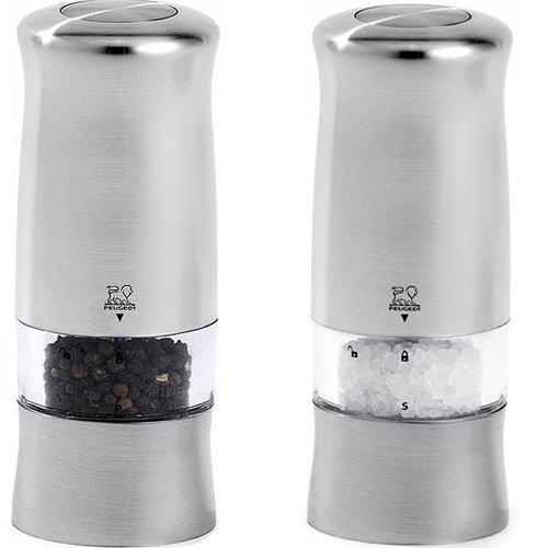 Peugeot - 24079 + 24086 - Ensemble moulins electriques sel et poivre 14cm Zeli