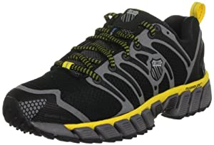 K-Swiss Women's Blade-Max Trail Running Shoe,Black/Charcoal/Bright Yellow,6.5 M US