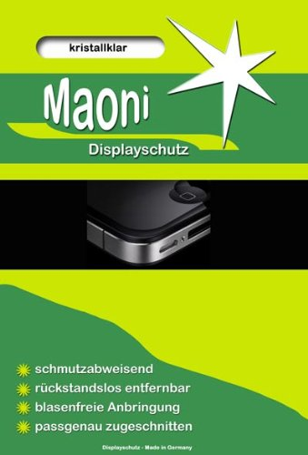 2x Maoni Crystal Clear Display Schutzfolie (kristallklar) passend f&#252;r Nintendo DS-Lite