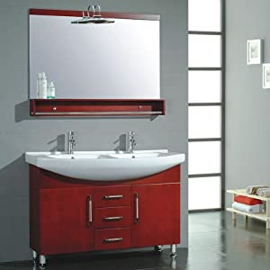 48 Inch Double Bathroom Vanity Set W Porcelain Basin Sink