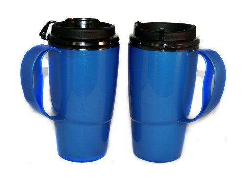 2 Foam Insulated ThermoServ Coffee Mugs 16 oz. Blue (Coffee Mug For Microwave compare prices)