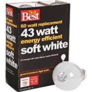 GE Private Label 90858 Do it Halogen Light Bulb-43W 4PK SOFT WHITE BULB