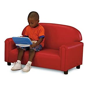 World Preschool Premium Vinyl Upholstery Sofa -Red from Brand New World