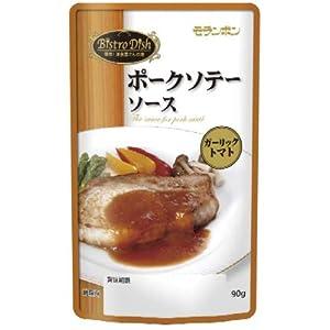 モランボン Bistro Dish ポークソテーソース ガーリックトマト 90g×10袋