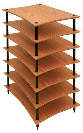 Quadraspire Q4EVO 7 Shelf Hi-Fi stand in Oak