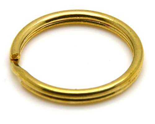 Okones 20 Pcs 1-1/5''(30mm)Diameter,Leather handmade Factory Split Solid Brass Antique Key Ring (1-1/5''/30mm) (Solid Brass Split Ring compare prices)