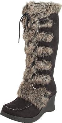 UNIONBAY Women's Wonderland Knee-High Boot,Black/Grey,7 M Us
