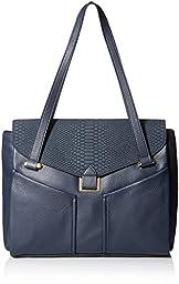 Vince Camuto Zuri Satchel Shoulder Bag, Blue Nights, One Size