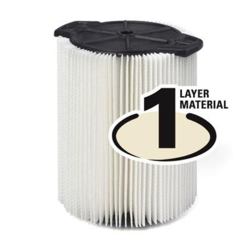 RIDGID VF4000 Shop Vac Filter 1 Layer Wet Dry 5-20 Gal & 6-9 Gal Husky Vacuum (Ridgid Wet Dry Vacuum 6 Gallon compare prices)