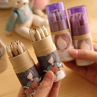 Zclcartoon Girl Pattern 12 Color Painting Pencil(12 Pcs/Set)