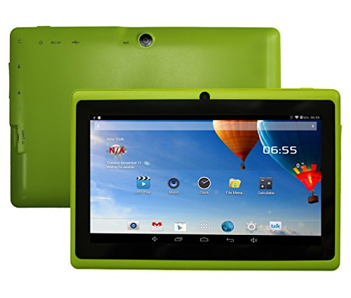 DanCoTek 7 Android4.4.2 Dual Core 1.5GHz A23 CPU Bluetooth WiFi Dual Camera Capacitive Touch 800*480 External 3G Compatible 512MB 4GB Tablet PC (Green)