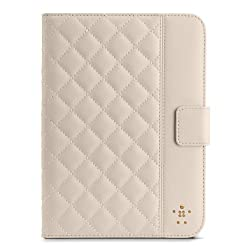 Belkin Quilted Cover with Stand for the New iPad mini (Cream)