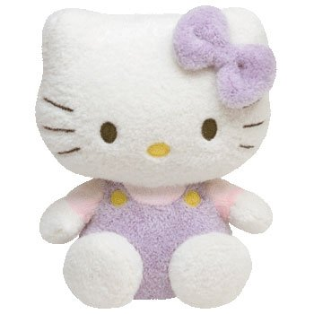 TY-Beanie-Baby-HELLO-KITTY-FUZZY-PURPLE