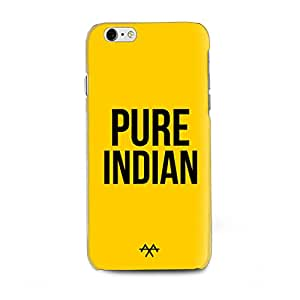 AXA Pure Indian Printed Back Cover Compatible for Iphone 6S Yellow