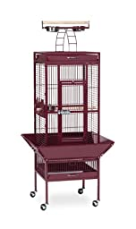 Prevue Hendryx 3151RED Pet Products Wrought Iron Select Bird Cage, Garnet Red
