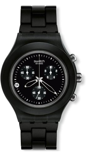 Swatch Men's Full-Blooded Watch SVCF4000AG Smoky Black