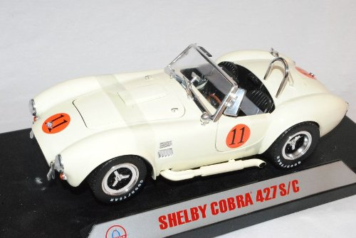 Shelby Cobra 1965 S/c 427 Creme Racing VeRSion 1/18 Shelby Collectibles Modellauto Modell Auto