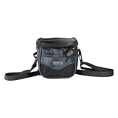 FotoTech Camera Bag with strap for Fujifilm Samsung Sony Olympus Panasonic Canon Nikon Pentax Point-and-Shoot and Compact Cameras + FotoTech Velvet Bag